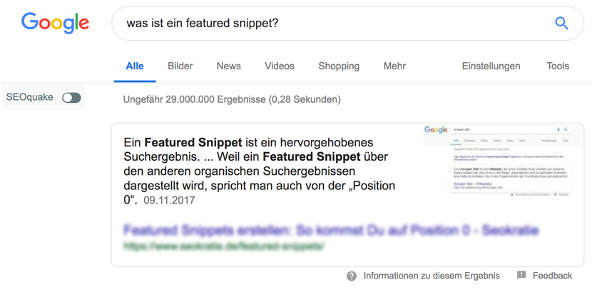 WebMen Was ist ein Featured Snippet