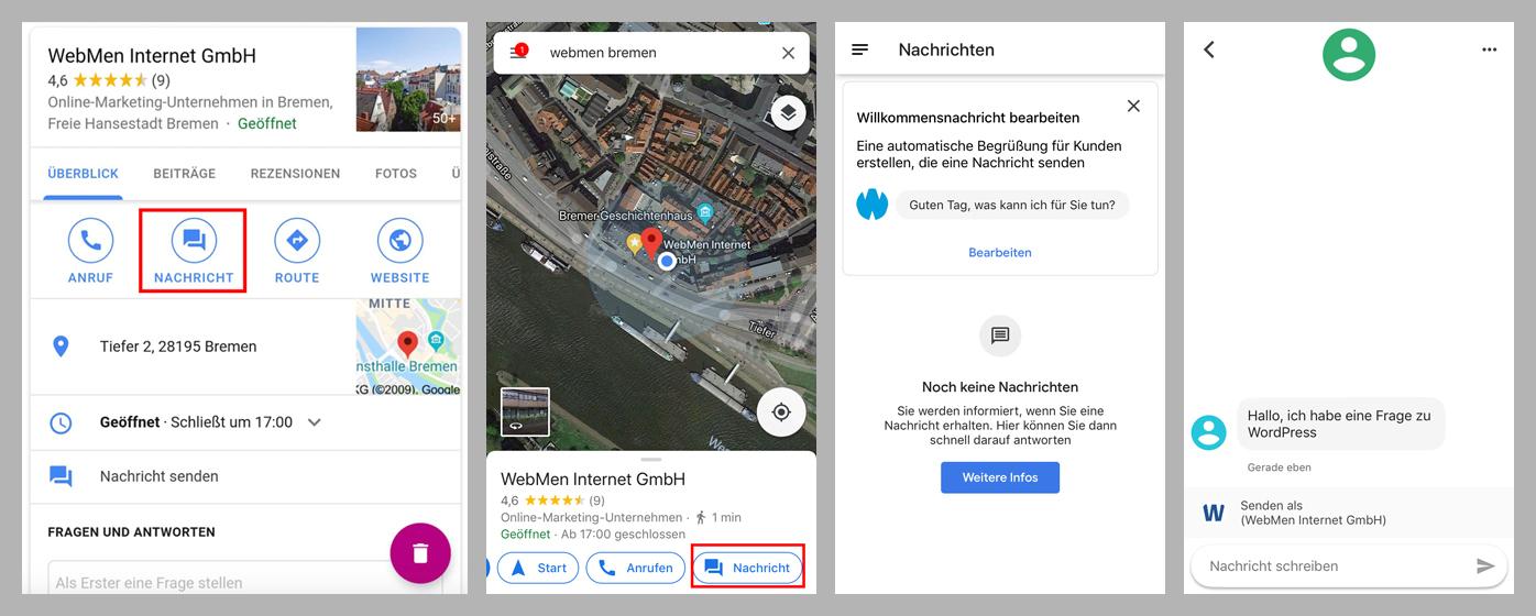 WebMen Google My Business Nachrichten