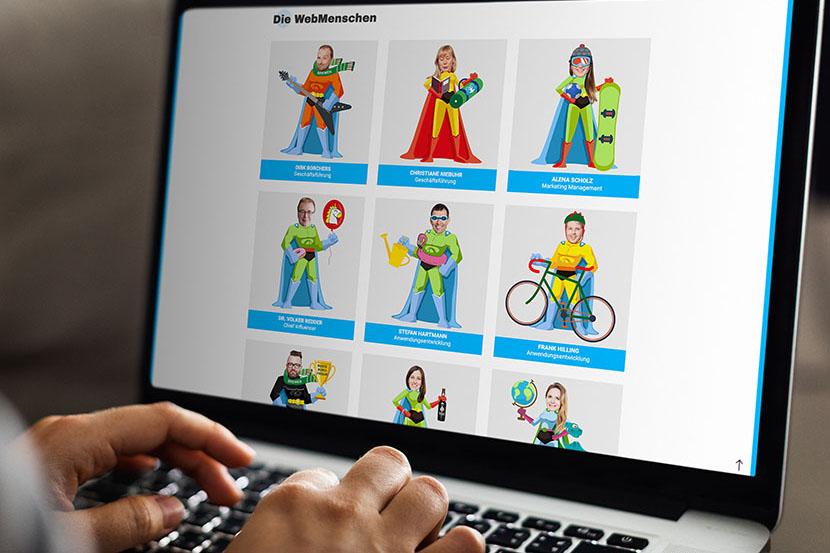 WebMen Superhelden
