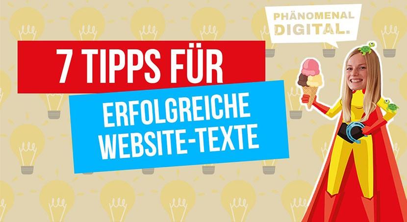 7 Tipps für erfolgreiche Website-Texte